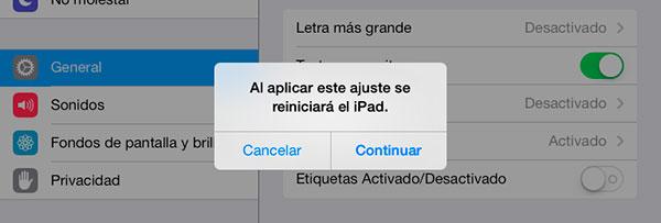 iOS7 modificar texto