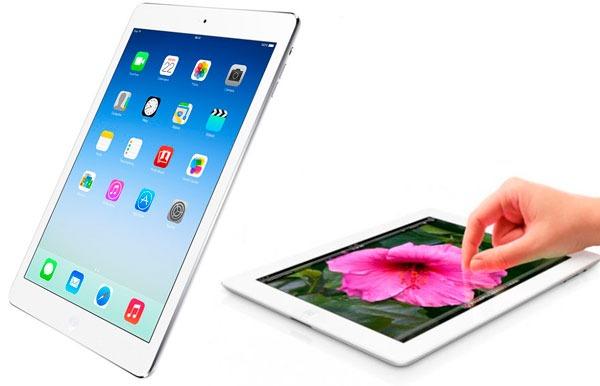 Comparativa iPad Air vs iPad 4