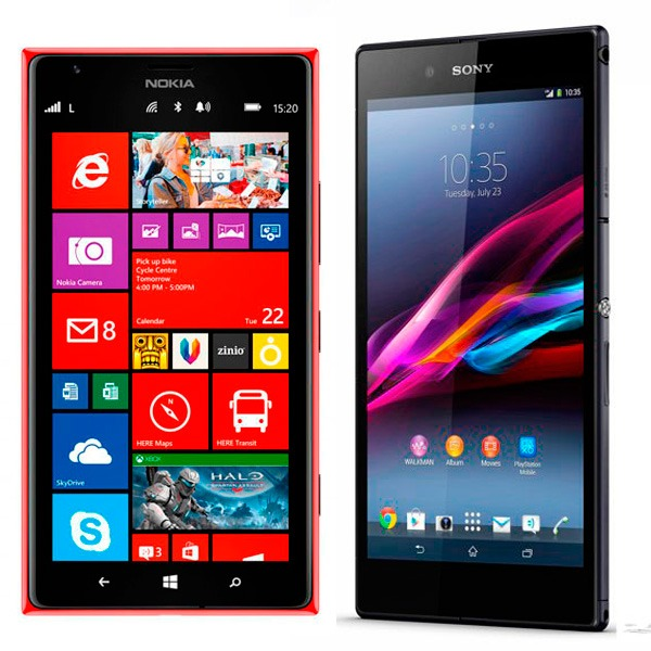 Comparativa Nokia Lumia 1520 vs Sony Xperia Z Ultra