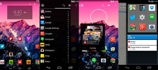 Android launchers action