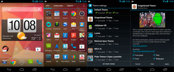 Android launchers apex