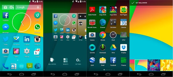 Android launchers kitkat