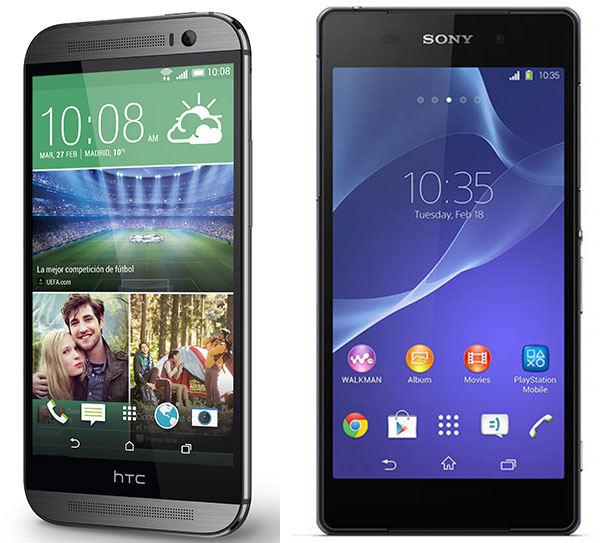 Comparativa HTC One M8 vs Sony Xperia Z2