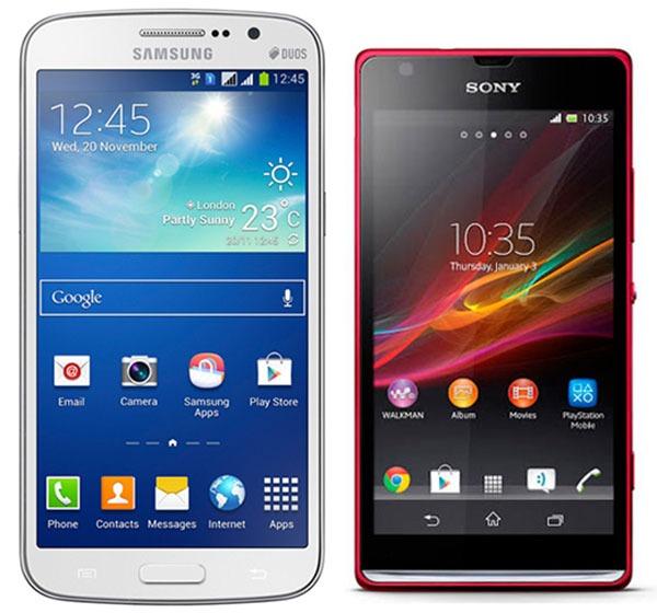 Comparativa Samsung Galaxy Grand 2 vs Sony Xperia SP