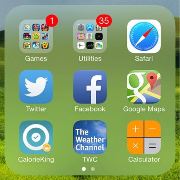 iOS71 subcarpetas