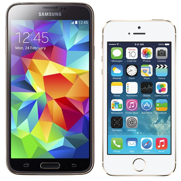 Comparativa Samsung Galaxy S5 vs iPhone 5S