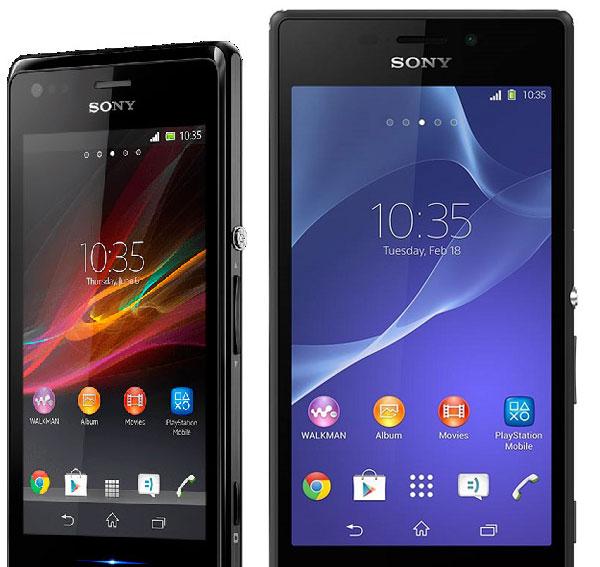 Comparativa Sony Xperia M vs Sony Xperia M2