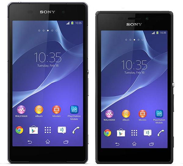 Comparativa Sony Xperia Z2 vs Sony Xperia M2