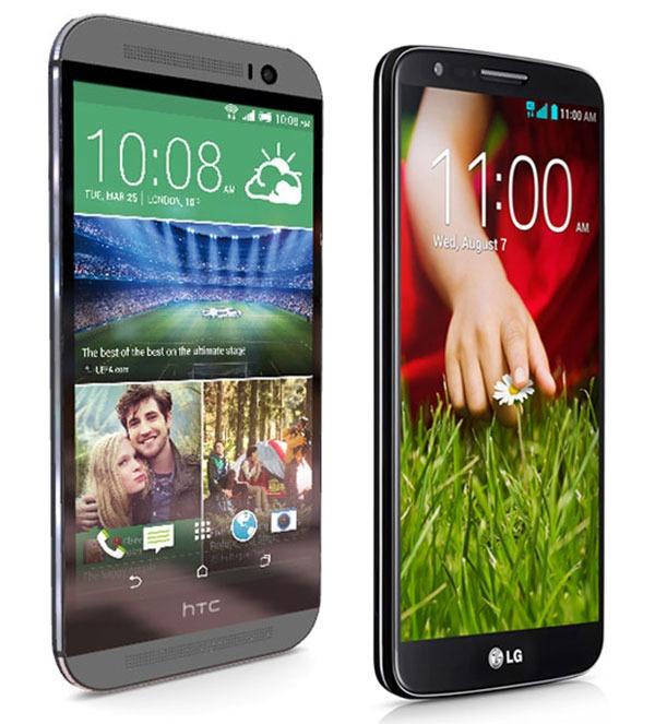 Comparativa HTC One M8 vs LG G2