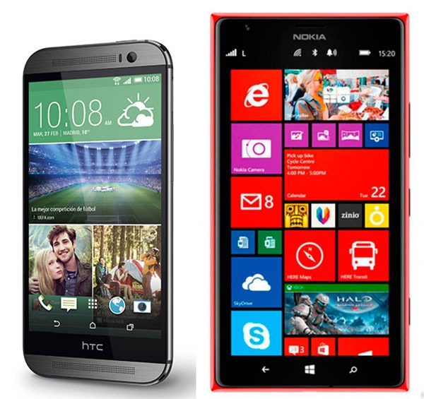 Comparativa HTC One M8 vs Nokia Lumia 1520