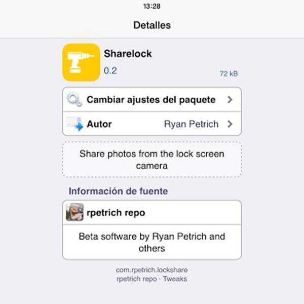 Comparte fotos desde la pantalla de bloqueo del iPhone con Jailbreak