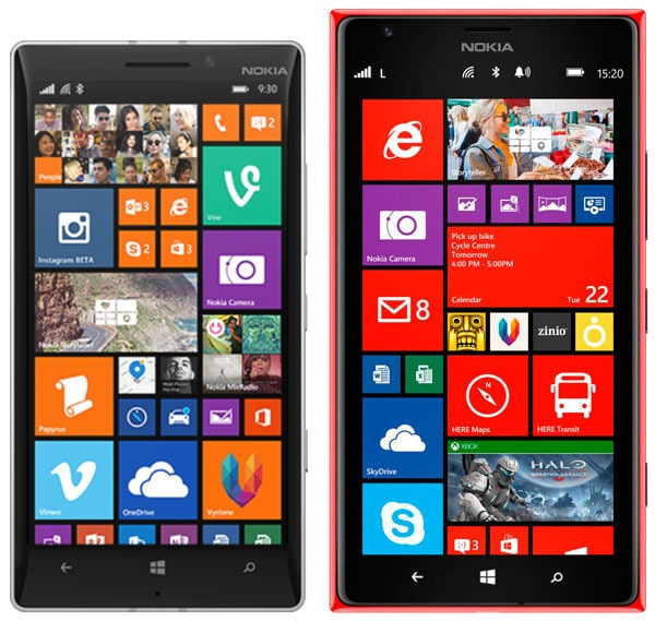 Comparativa Nokia Lumia 930 vs Nokia Lumia 1520