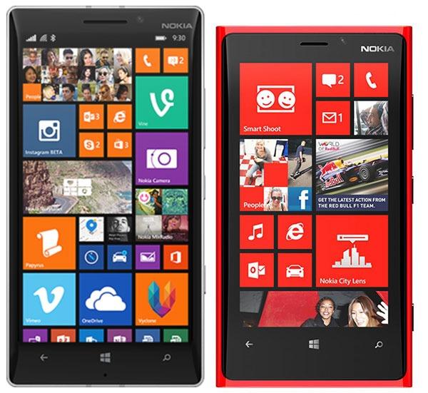 Comparativa Nokia Lumia 930 vs Nokia Lumia 920