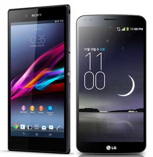 Comparativa Sony Xperia Z Ultra vs LG G Flex