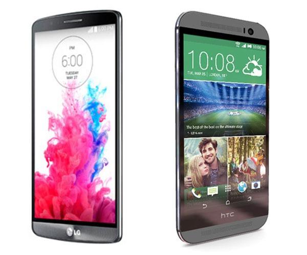Comparativa LG G3 vs HTC One M8