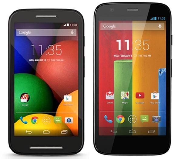 Comparativa Motorola Moto E Vs Motorola Moto G