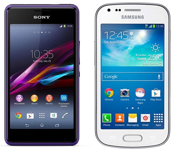 Comparativa Sony Xperia E1 vs Samsung Galaxy Trend Plus