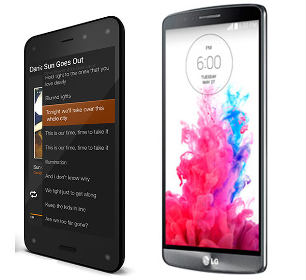 Comparativa Amazon Fire Phone vs LG G3