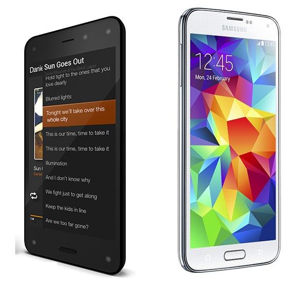 Comparativa Amazon Fire Phone vs Samsung Galaxy S5
