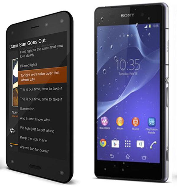 Comparativa Amazon Fire Phone vs Sony Xperia Z2