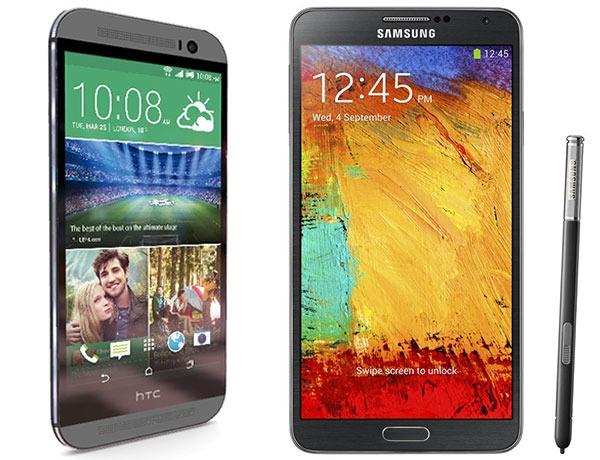 Comparativa HTC One M8 vs Samsung Galaxy Note 3