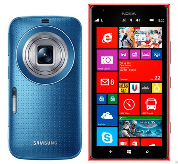 Comparativa Samsung Galaxy K Zoom vs Nokia Lumia 1520