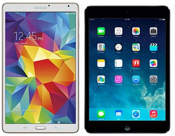 Comparativa Samsung Galaxy Tab S 8.4 vs iPad mini con pantalla Retina