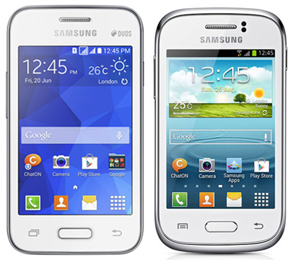Comparativa Samsung Galaxy Young 2 vs Samsung Galaxy Young