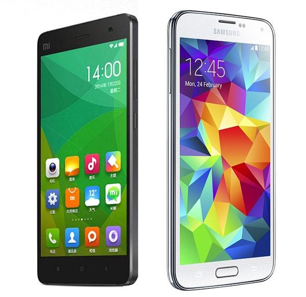 Comparativa Xiaomi Mi4 vs Samsung Galaxy S5