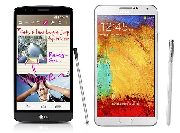 Comparativa LG G3 Stylus vs Samsung Galaxy Note 3