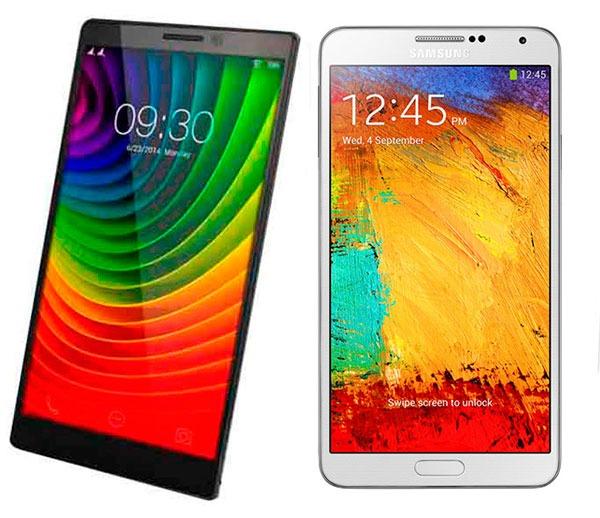 Comparativa Lenovo Vibe Z2 Pro vs Samsung Galaxy Note 3