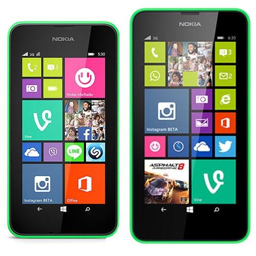 NokiaLumia530 vs NokiaLumia630