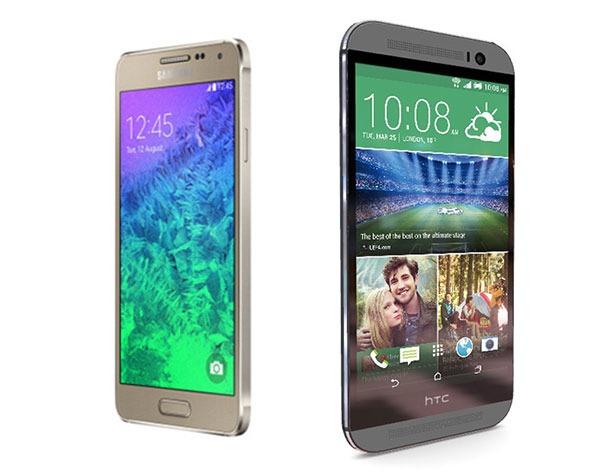 Comparativa Samsung Galaxy Alpha vs HTC One M8