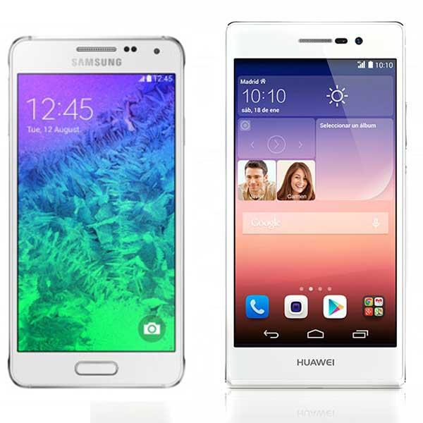 Comparativa Samsung Galaxy Alpha vs Huawei Ascend P7