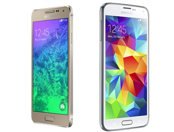 Comparativa Samsung Galaxy Alpha Vs Samsung Galaxy S5