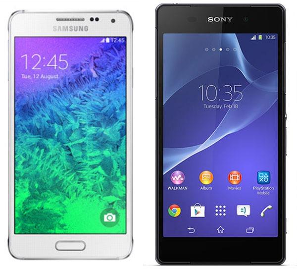 Comparativa Samsung Galaxy Alpha vs Sony Xperia Z2