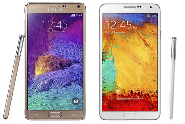 Comparativa Samsung Galaxy Note 4 vs Samsung Galaxy Note 3