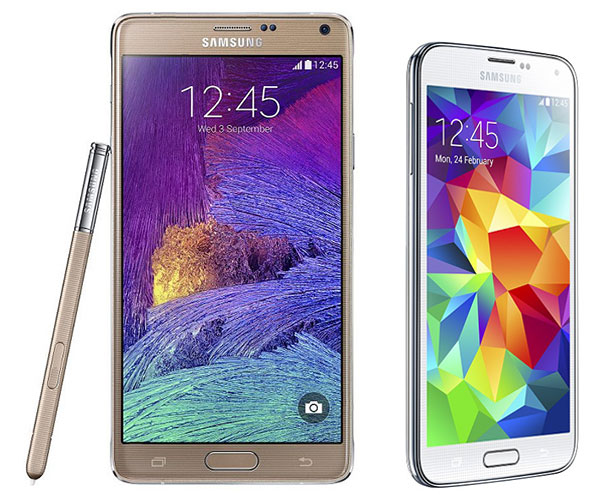 Comparativa Samsung Galaxy Note 4 vs Samsung Galaxy S5