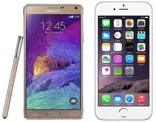 Galaxy Note  O Iphone