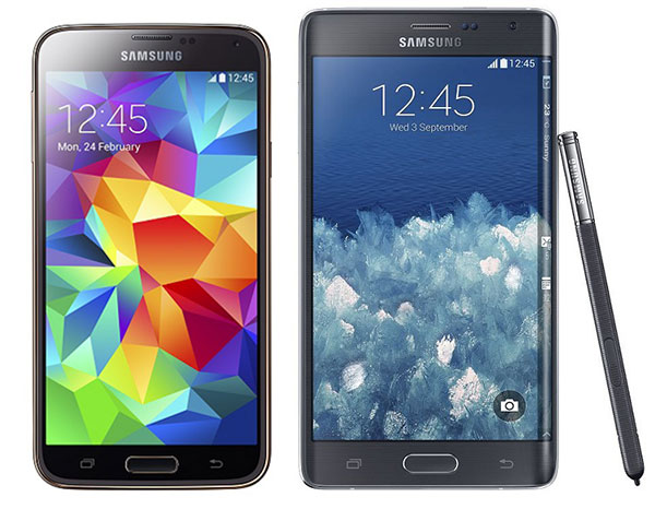 Comparativa Samsung Galaxy S5 vs Samsung Galaxy Note Edge