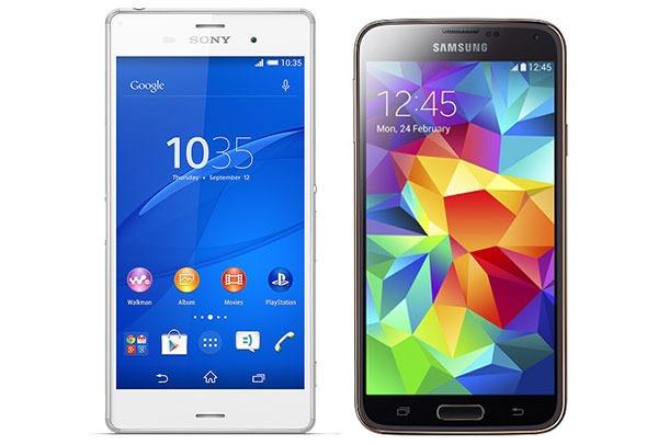 Comparativa Sony Xperia Z3 vs Samsung Galaxy S5