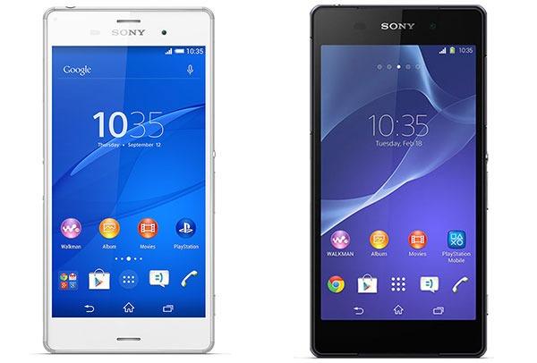 Comparativa Sony Xperia Z3 vs Sony Xperia Z2