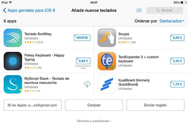 Cómo instalar un nuevo teclado en tu  iPhone o iPad con iOS 8