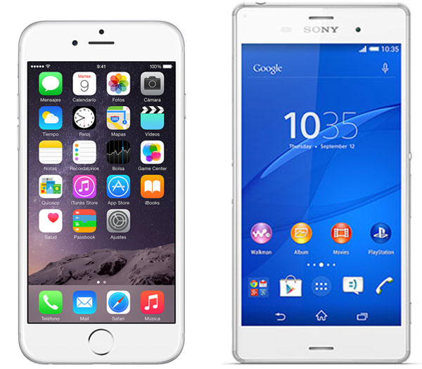 Comparativa iPhone 6 vs Sony Xperia Z3