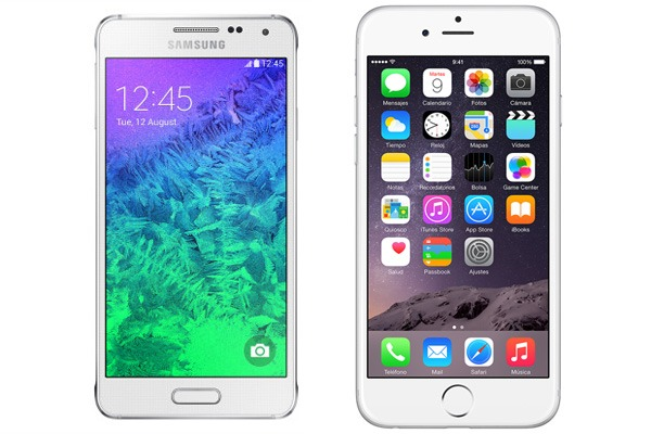 Comparativa Samsung Galaxy Alpha vs iPhone 6