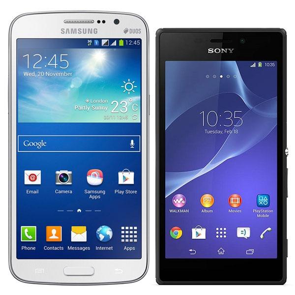 Comparativa Samsung Galaxy Grand 2 vs Sony Xperia M2
