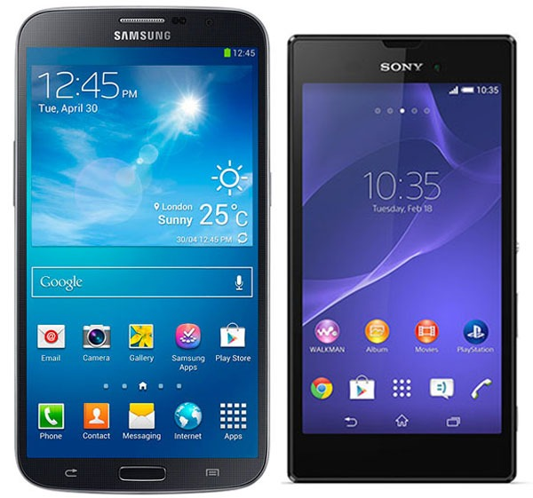 Comparativa Samsung Galaxy Mega vs Sony Xperia T3