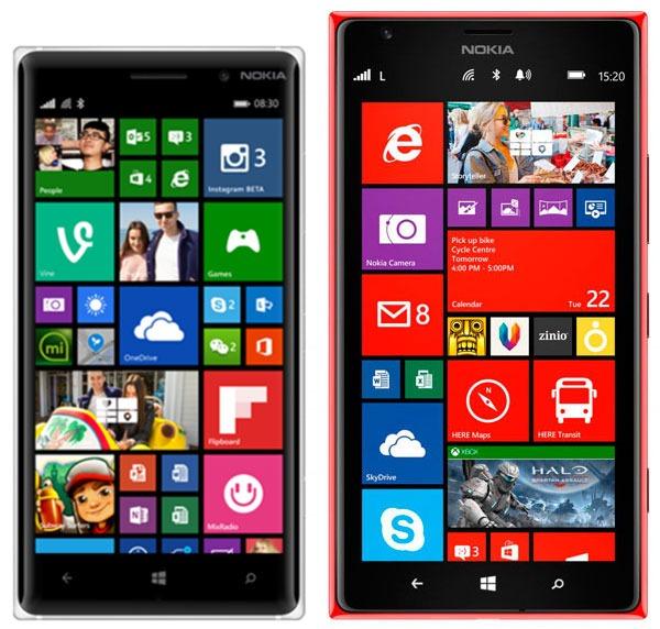 Comparativa Nokia Lumia 830 vs Nokia Lumia 1520