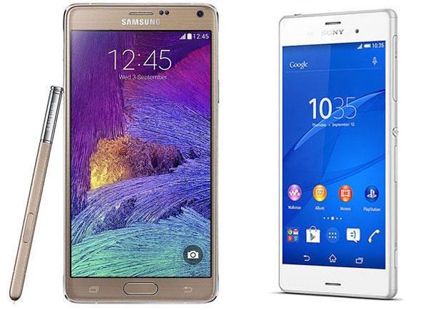 Comparativa Samsung Galaxy Note 4 vs Sony Xperia Z3