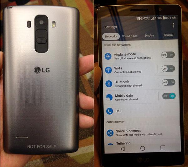 El LG G4 o LG G4 Note posa para la cámara